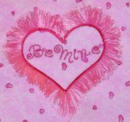 Fluffy Be Mine Heart