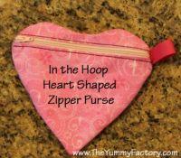 Heart Zipper Purse