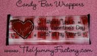 Valentine All My Heart Candy Bar Wrapper