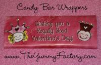 Valentine Princess Prince Candy Bar Wrapper