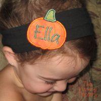Pumpkin Hair Goodies and Font