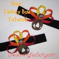 Turkey Hair Bow Tutorial