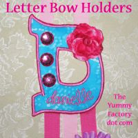 Bow Holder Letters