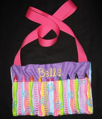 Personalized Crayon Purse with Hearts